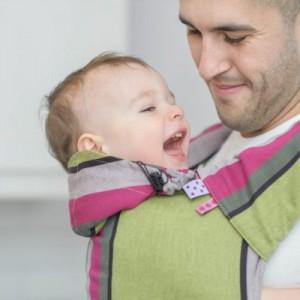 funkcjonalne nosidełko ergonomiczne dla ojca